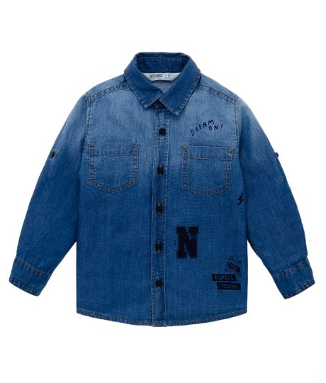 Camisa-manga-larga-Ropa-bebe-nino-Indigo-medio