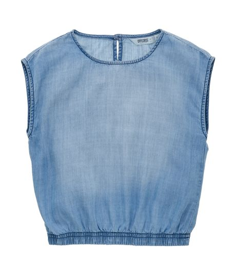 Camisa-manga-corta-Ropa-nina-Indigo-medio