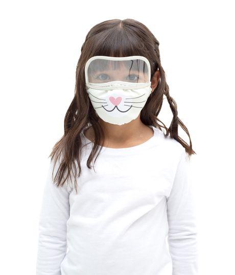 Tapabocas-con-visor-para-niñas-Ropa-bebe-nina-Gris