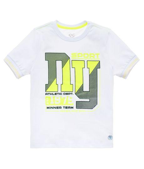 Camiseta-deportiva-manga-corta-Ropa-bebe-nino-Blanco