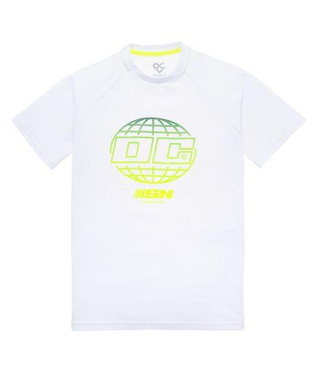 Camiseta-manga-corta-deportiva-Ropa-nino-Blanco