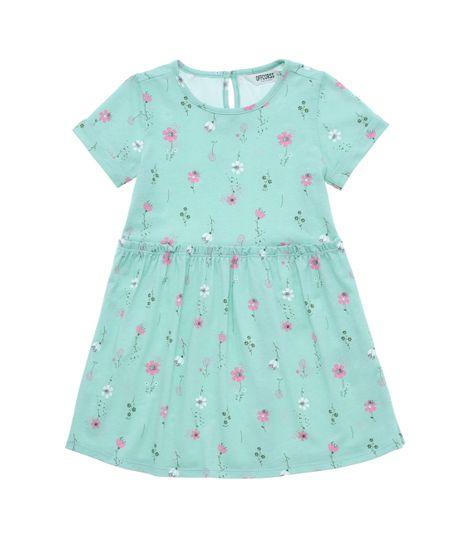 Vestido-manga-corta-Ropa-bebe-nina-Verde