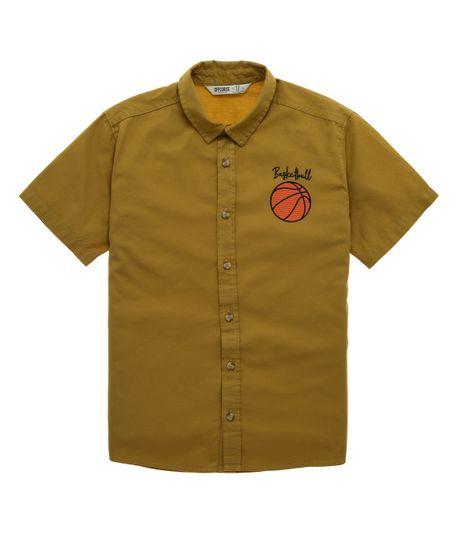 Camisa-manga-corta-Ropa-nino-Amarillo