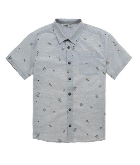 Camisa-manga-corta-Ropa-nino-Gris