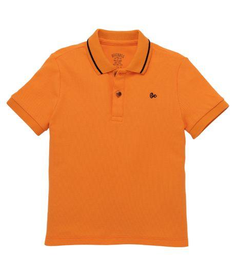 Camiseta-tipo-polo-Ropa-bebe-nino-Naranja