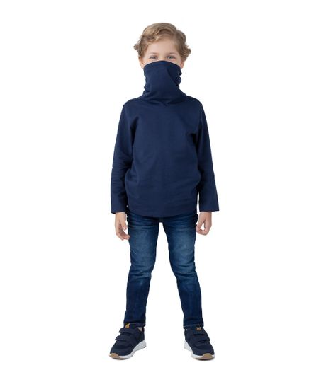 Camiseta-manga-larga-de-proteccion-Ropa-bebe-nino-Azul