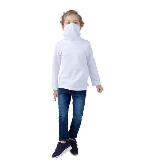 Camiseta-manga-larga-de-proteccion-Ropa-bebe-nino-Blanco