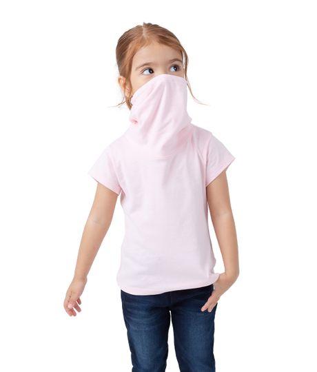 Camiseta-manga-corta-de-proteccion-Ropa-bebe-nina-Rosado