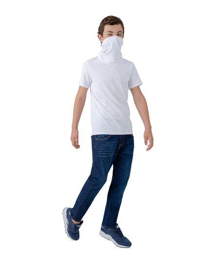 Camiseta-manga-corta-de-proteccion-Ropa-nino-Blanco