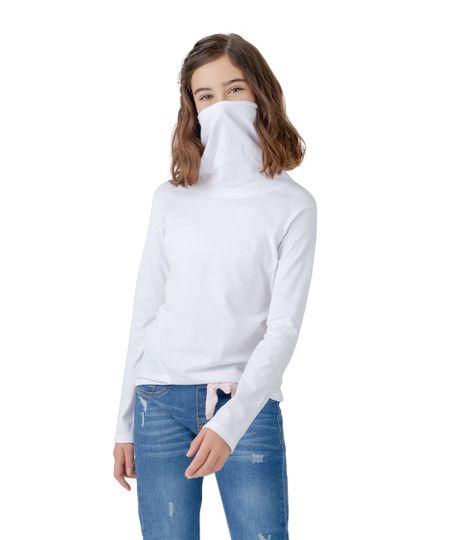 Camiseta-manga-larga-de-proteccion-Ropa-nina-Blanco