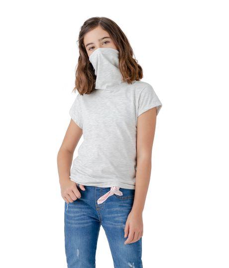 Camiseta-manga-corta-de-proteccion-Ropa-nina-Gris