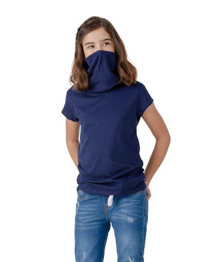 Camiseta-manga-corta-de-proteccion-Ropa-nina-Azul