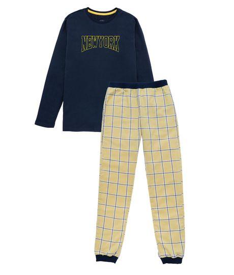 Pijama-Ropa-nino-Amarillo