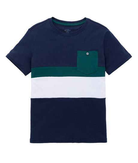 Camiseta-manga-corta-ecologica-Ropa-nino-Azul