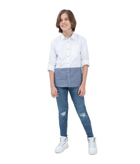 Camisa-manga-larga-Ropa-nino-Blanco