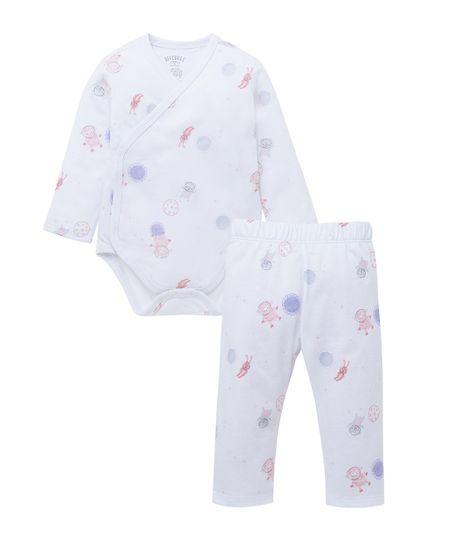 Pijama-Ropa-recien-nacido-nina-Blanco
