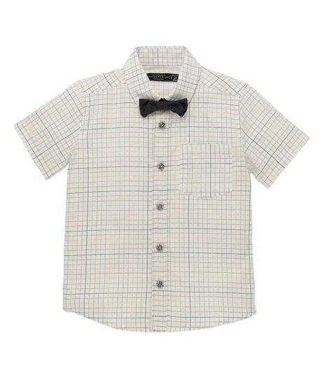 Camisa-manga-corta-Ropa-bebe-nino-Blanco