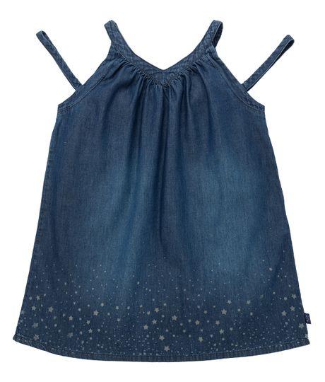 Vestido-manga-sisa-Ropa-bebe-nina-Indigo-oscuro