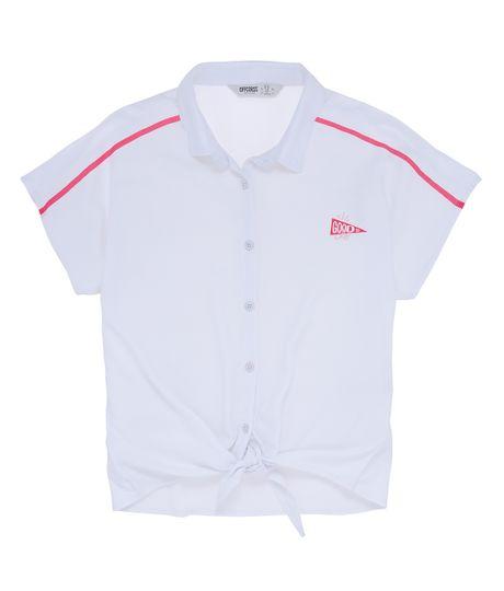 Camisa-manga-corta-Ropa-nina-Blanco