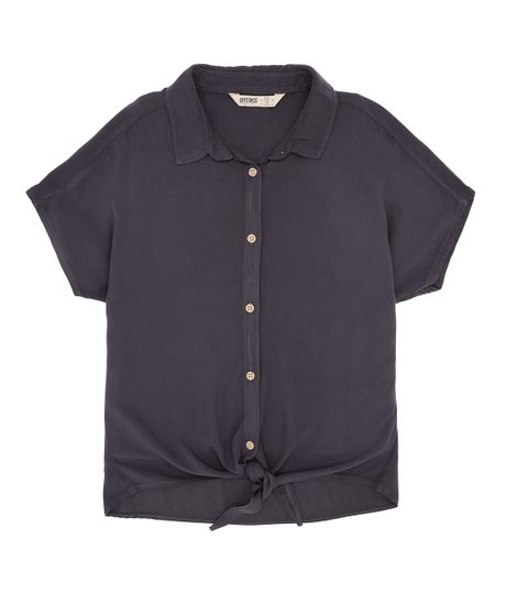 Camisa-manga-corta-Ropa-nina-Gris