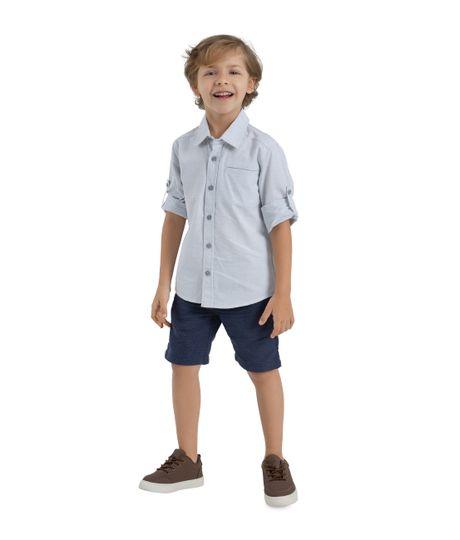 Camisa-manga-larga-Ropa-bebe-nino-Gris