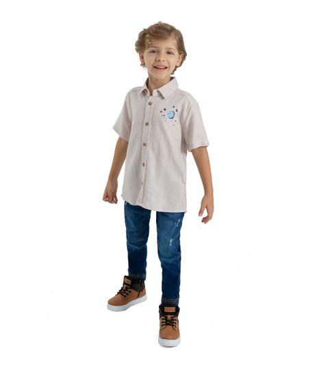 Camisa-manga-corta-Ropa-bebe-nino-Rosado
