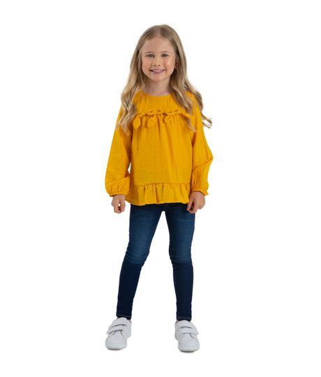 Camisa-manga-larga-Ropa-bebe-nina-Amarillo