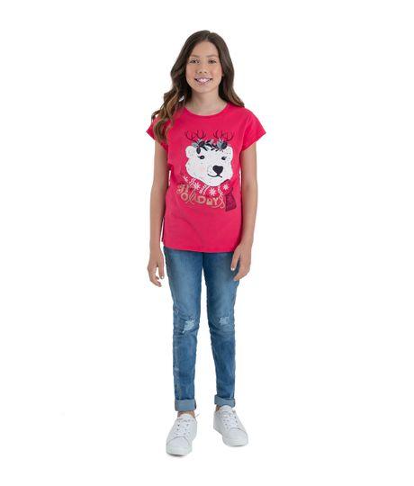 Camiseta-manga-corta-Ropa-nina-Rojo