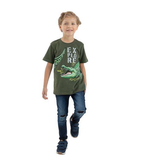 Camiseta-manga-corta-Ropa-bebe-nino-Verde