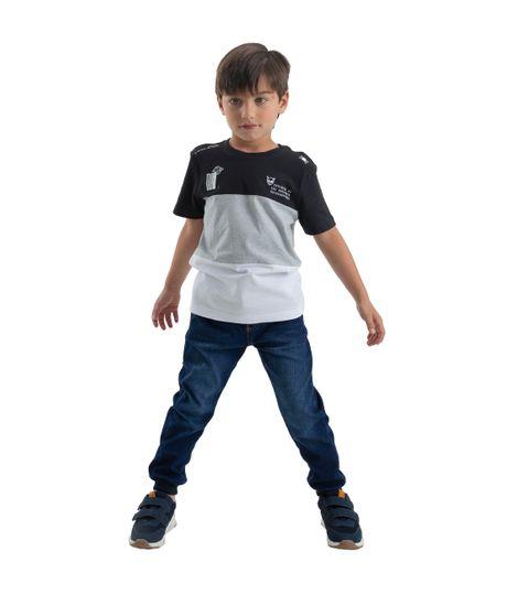 Camiseta-manga-corta-Ropa-bebe-nino-Negro
