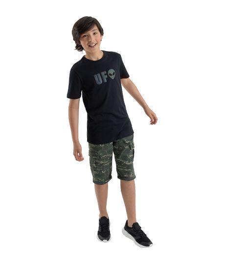 Camiseta-manga-corta-Ropa-nino-Negro