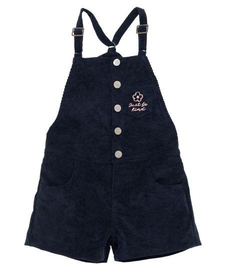 Overall-corto-Ropa-bebe-nina-Azul