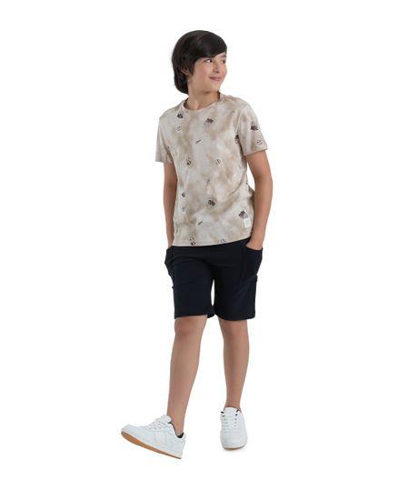 Camiseta-manga-corta-ecologica-Ropa-nino-Cafe