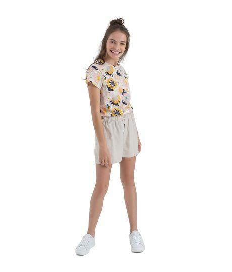 Camiseta-manga-corta-ecologica-Ropa-nina-Blanco