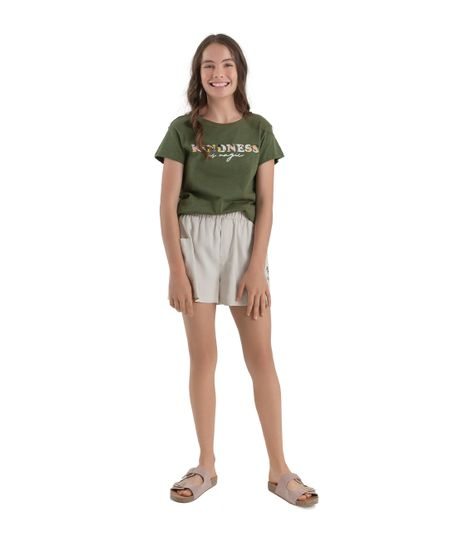 Camiseta-manga-corta-ecologica-Ropa-nina-Verde