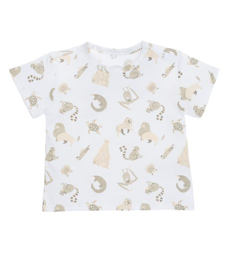 Camiseta-manga-corta-Ropa-recien-nacido-nino-Cafe