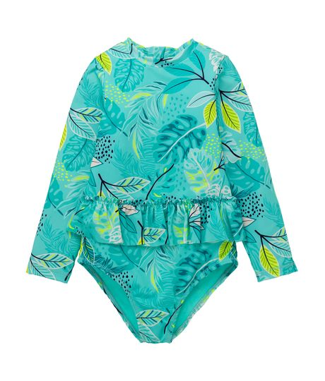 Vestido-de-baño-entero-Ropa-bebe-nina-Verde