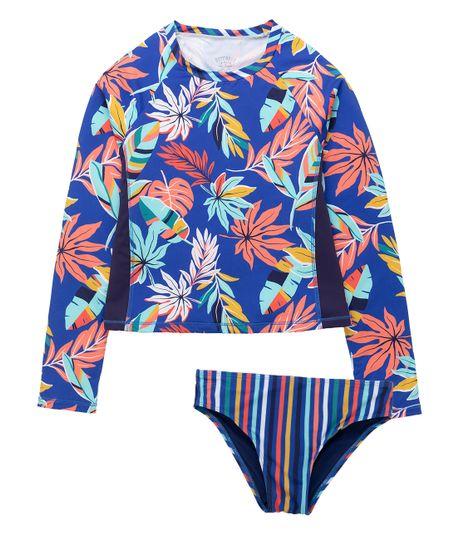 Vestido-de-baño-tankini-Ropa-nina-Azul