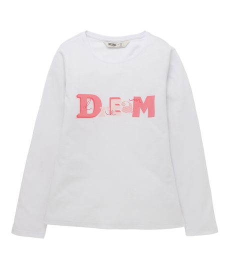 Camiseta-de-pijama-Ropa-nina-Blanco