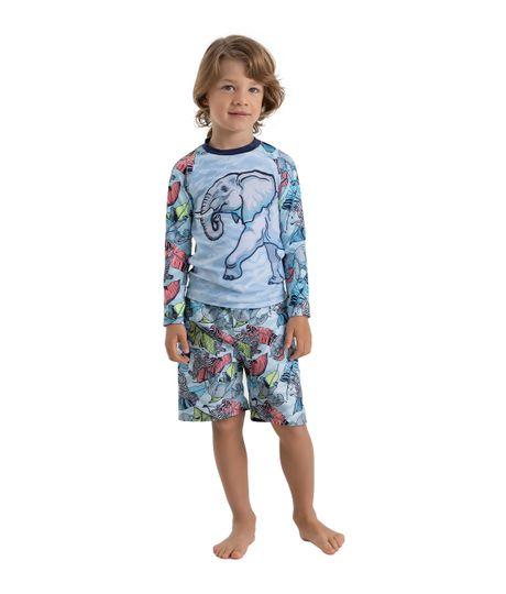 Camiseta-de-playa-Ropa-bebe-nino-Azul