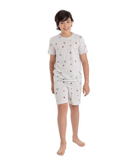 Camiseta-de-pijama-Ropa-nino-Gris