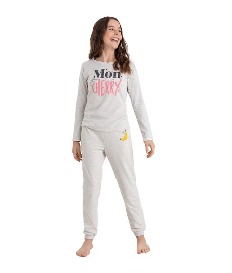 Pantalon-de-pijama-Ropa-nina-Gris