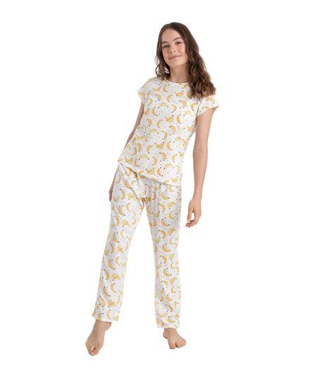 Pantalon-de-pijama-Ropa-nina-Blanco