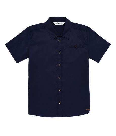 Camisa-manga-corta-Ropa-nino-Azul