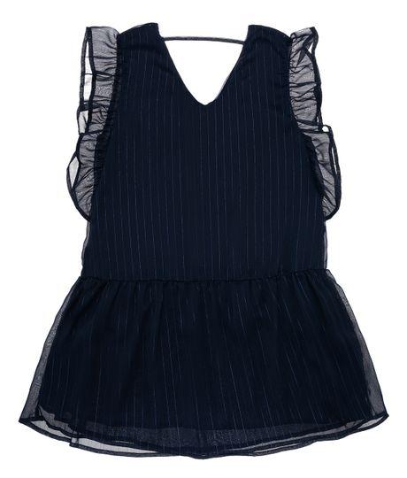Vestido-manga-corta-Ropa-nina-Azul