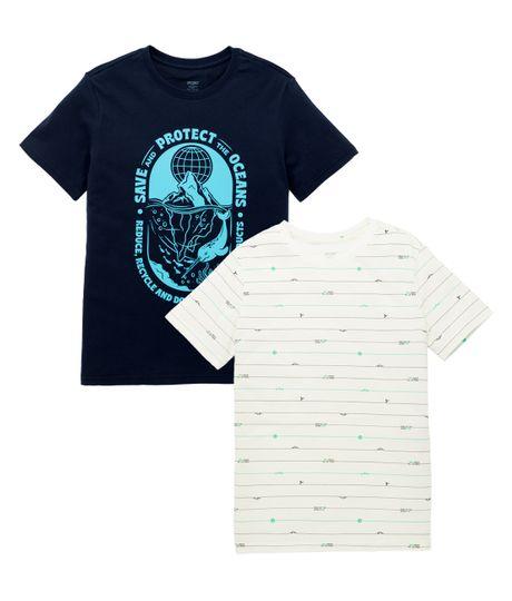 Set-x2-camisetas-Ropa-nino-Azul