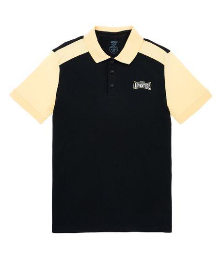 Camiseta-tipo-polo-Ropa-nino-Negro