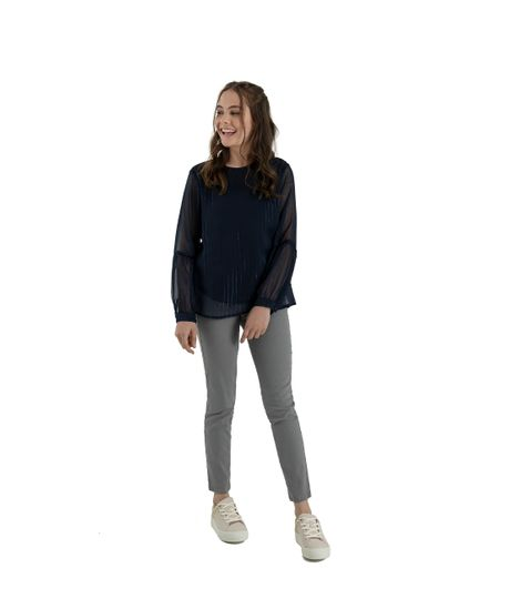 Camisa-manga-larga-Ropa-nina-Azul