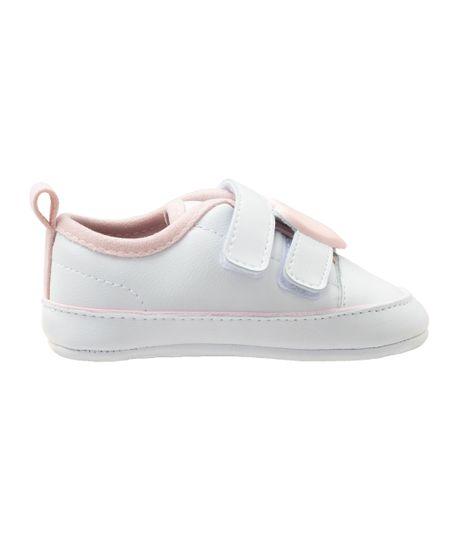 Zapatos-cosidos-Ropa-recien-nacido-nina-Blanco