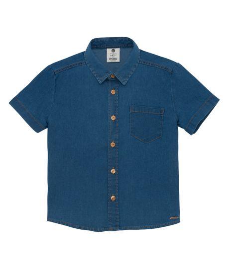 Camisa-manga-corta-Ropa-bebe-nino-Indigo-medio
